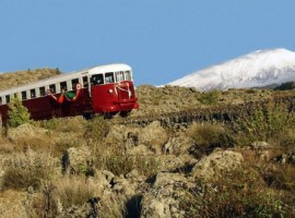 Traditional Train near the Eco-friendly House Casa Sull'Etna