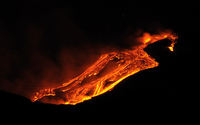 Etna Eruption 2011