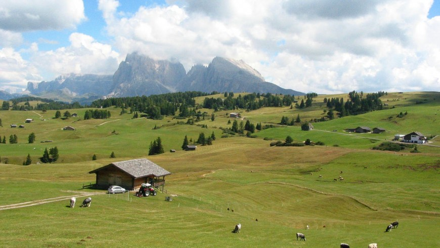 Alpi di Siusi, Sassolungo, photography by Tom Ayres, via Flickr