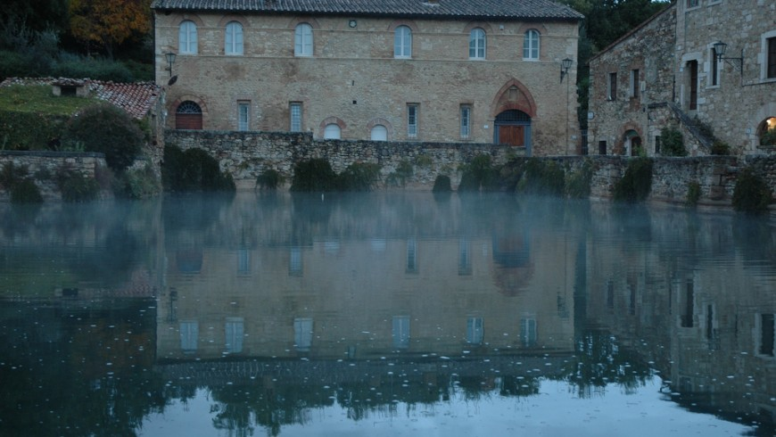 he thermal waters, Bagno Vignoni, Tuscany, photo by Davide Rapetti, via Flickr
