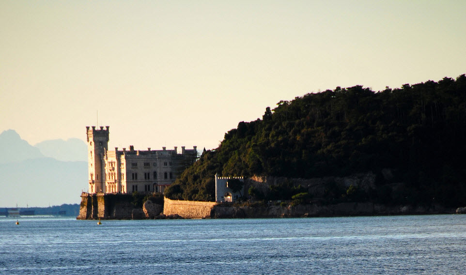 Castle of Miramare Trieste by Tony Hammond via Flickr