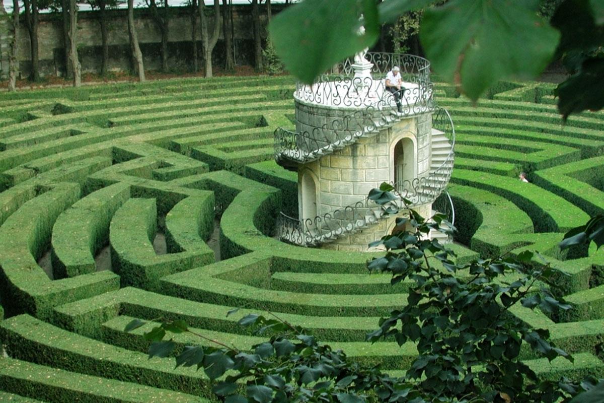 The Stra maze, Venice, Veneto, Italy