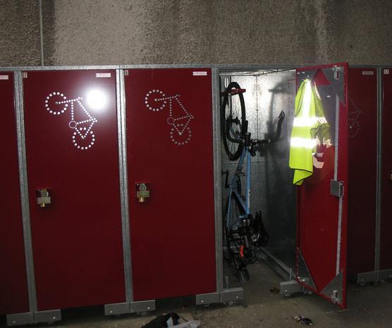 Bike Lockers for employees