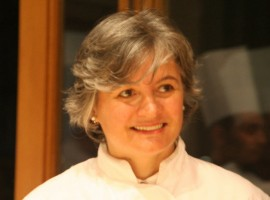 Nadia Santini smiling, the Italian female chef just awarded as one of the 10 best chefs in the world couirtesy of Lele via Flickr