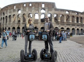 The Segways in front of the Colosseum