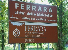 The city of Ferrara reading City of Bikes