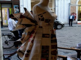 A dress made of paper