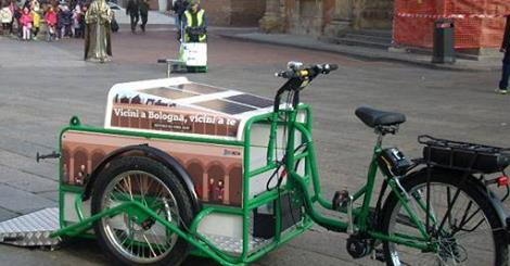 Bike Bologna innovative use of a bicycle