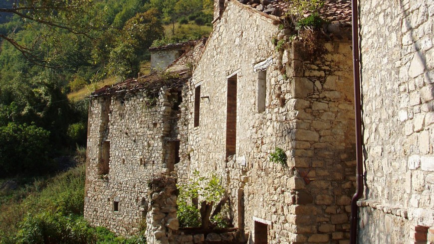 Gost town in Poggio Santa Cecilia, Italy