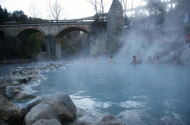 Free Spa in Petriolo, Tuscany.