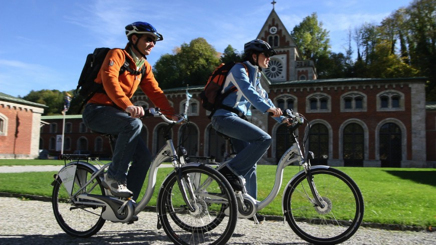 Sustainable tourism in the Alps: E-bikes in Bad Reichenhall, Germany