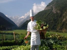Vegetable garden, Bellevue hotel, Cogne