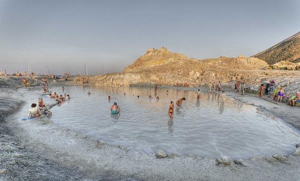 Natural hot springs of Vulcano, Sicily