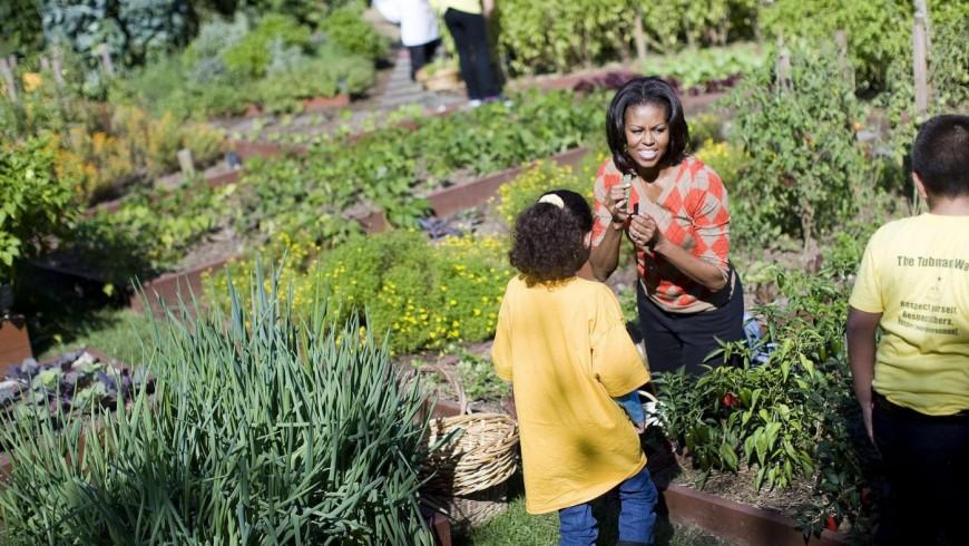 Michelle Obama seeding seeds