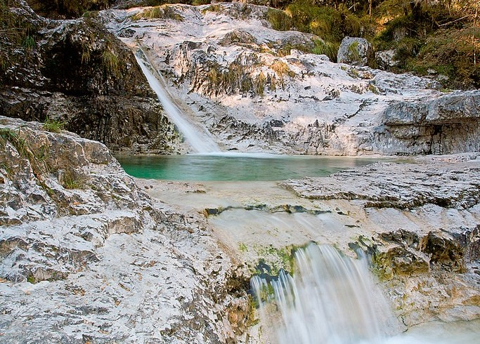natural pools in the Mis Valley, Belluno