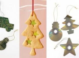 Homemade Christmas decorations reusing cd