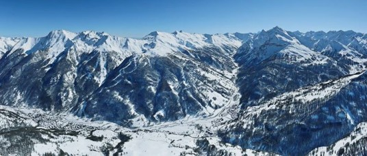View of the landscape from Pragelato Natural Terrain
