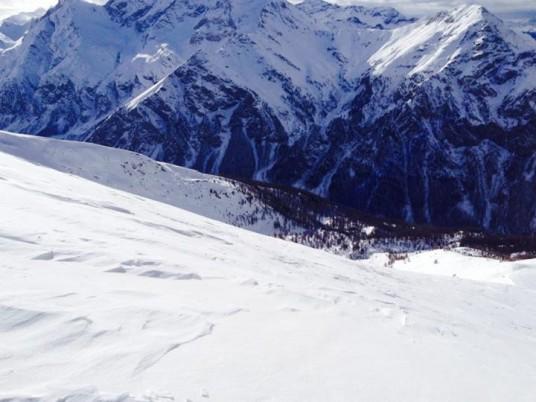 A natural slope from Pragelato Natural Terrain
