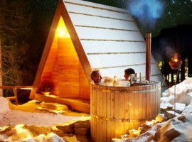 Hot tub in Glamping Gozdne Vile