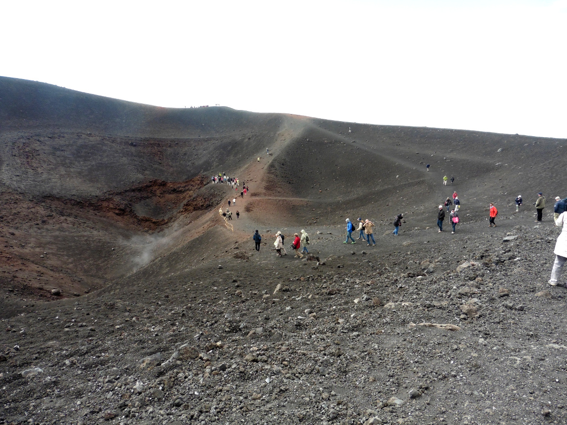 Route to the discovery of the volcano Mount Etna, Sicily
