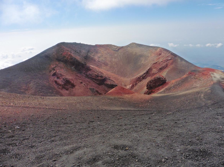 Amazing colors of Etna volcano,