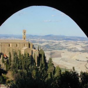 View over Gualdo Tadino surrounding