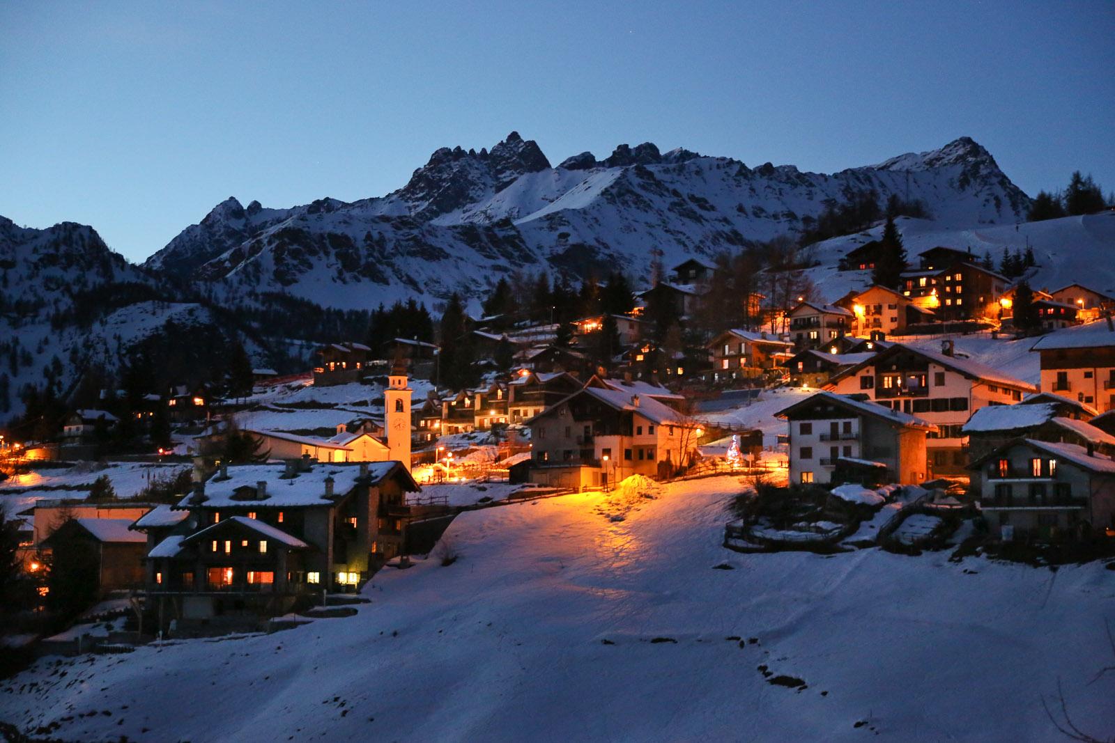 The little village of Chamois, Valle d'Aosta, Italy