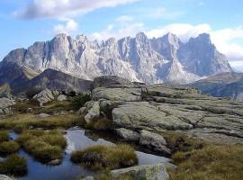 Pale di San Martino from Lagorai, Trentino, italy