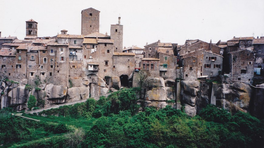 View on the ancient buildings of Vitorchiano