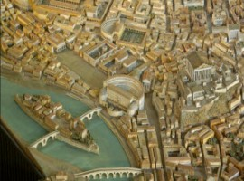a reconstruction of Rome in 4th C