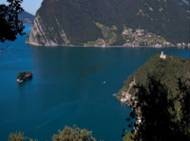 The Monteisola island and the Lake of Iseo