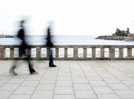 Promenade of Diano Marina, Liguria, italy