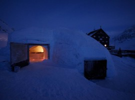 the external part of the igloo (Refuge Bella Vista, BO)