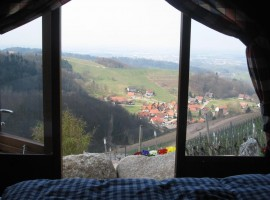 view on the valley from the barrel inner (Sesbachwalden)