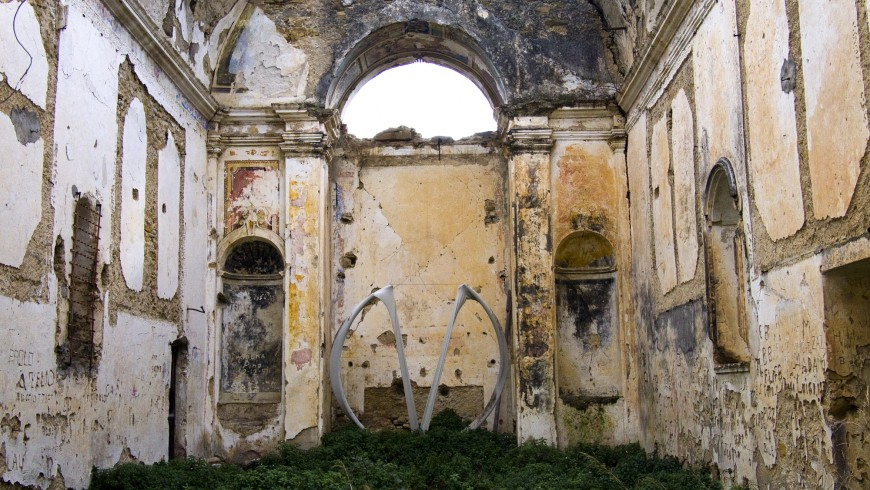 the church's ruins from inside (Bussana Vecchia, Imperia)