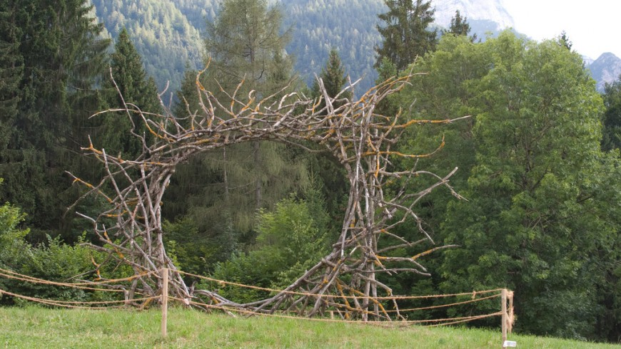 Arte Sella, Trentino: Sun Circle by Thierry Teneul