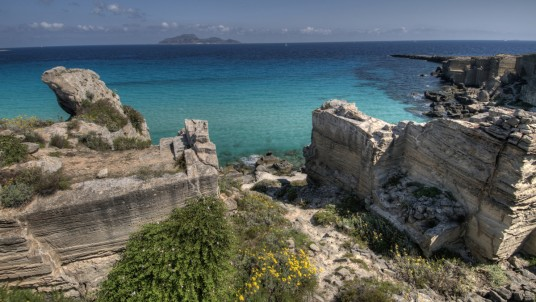 Favignana view of the sea