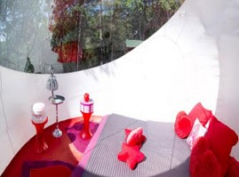 The interior of the Glamour Bubble room,