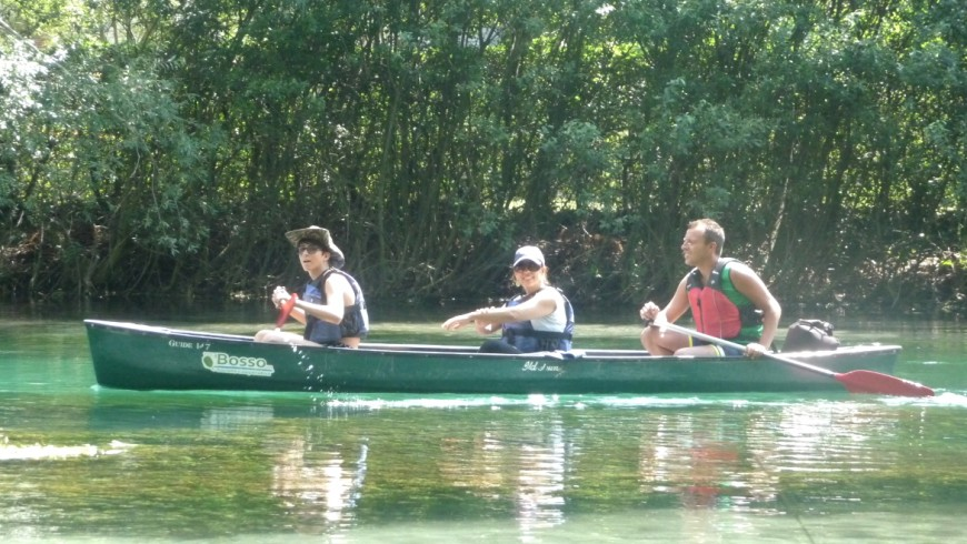 Canoeing on the river Tirino, Abruzzo