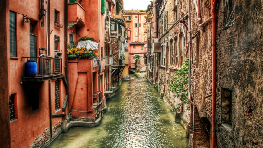 The waterways of Bologna