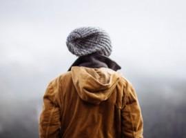A man looking at the horizon