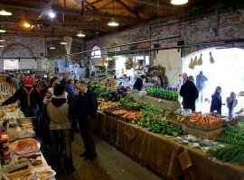 Shopping at an organic market