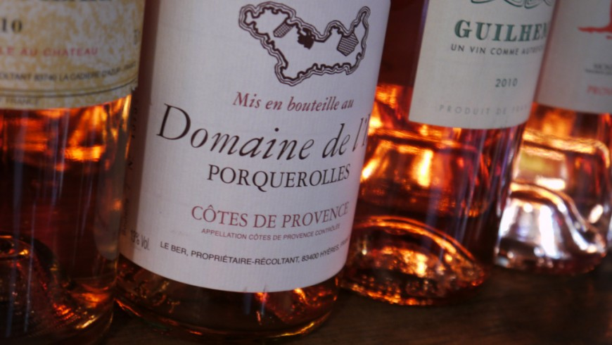 Rose Wine on Porquerolles island