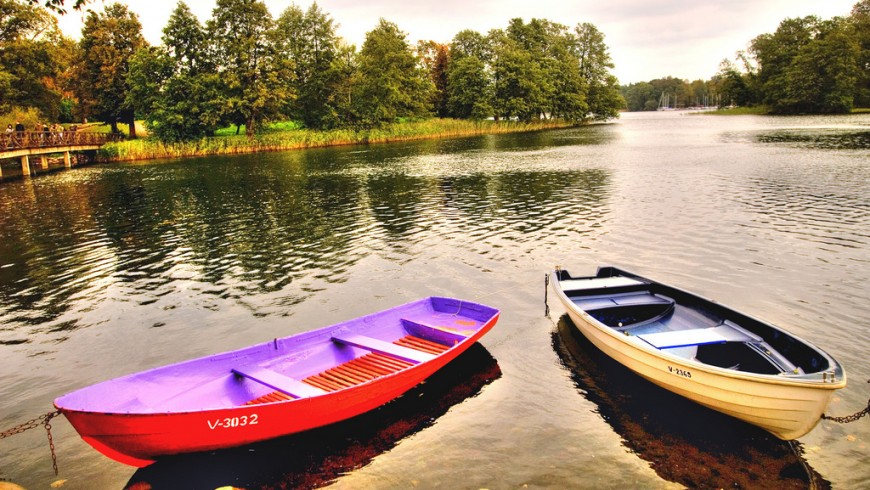 Wood boats in Lithuania