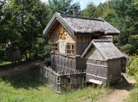 Ancient house in the Aukstaitijos National Park, Lithuania