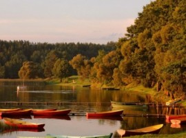 Boats in Aukstaitijos National Park, Lithuania