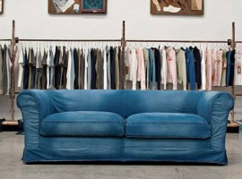 Sofa in denim