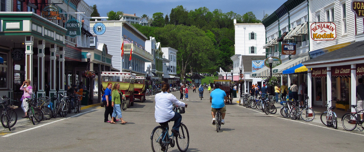Mackinac Island, city without car