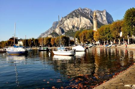 View of Lecco and the lake