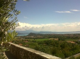 Bio B&B Vivere La Vita Guesthouse in Polpenazze del Garda, view on the Garda Lake